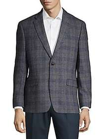 Tommy Hilfiger Textured Plaid Blazer GREY