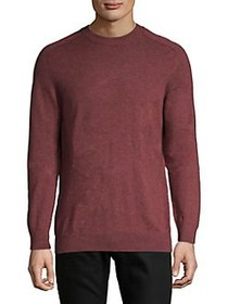 Selected Homme Heathered Crewneck Pullover CHOCOLA