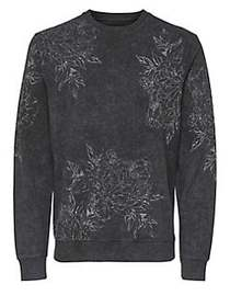 Only and Sons Floral-Print Cotton Sweater PHANTOM