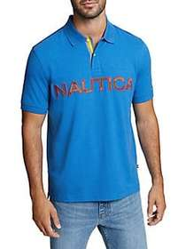 Nautica Logo Classic-Fit Cotton Polo BOLT BLUE