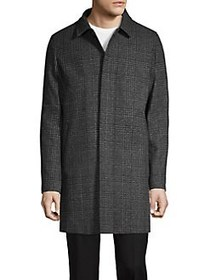 Karl Lagerfeld Patterned-Print Coat CHARCOAL