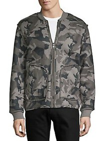 Lucky Brand Reversible Camo & Faux Fur Bomber Jack