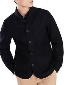 Brooks Brothers Red Fleece Rib-Trimmed Jacket NAVY
