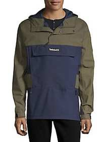Timberland Colorblock Hooded Jacket OLIVE NAVY