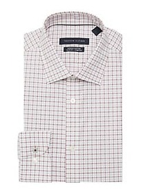 Tommy Hilfiger Slim-Fit Checkered Dress Shirt CHIL