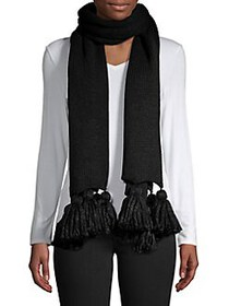Echo Long Tassel Scarf ECHO BLACK