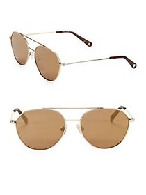 Vince Camuto 57MM Aviator Sunglasses GOLD
