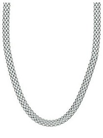 Lord & Taylor Cutout Sterling Silver Necklace SILV