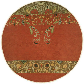 Iquique Hand-Woven Red/Green Area Rug