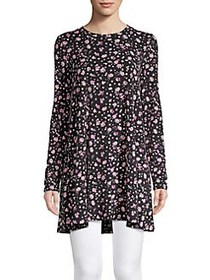 BCBGeneration Wild Flower A-Line Tunic BLACK