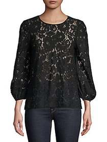 French Connection Emma Lace Top BLACK