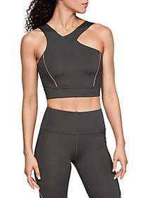 Under Armour Misty Cropped Top CHARCOAL