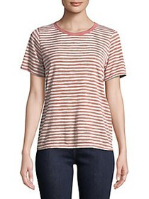 Project Social T Striped Ringer Tee BLUSH