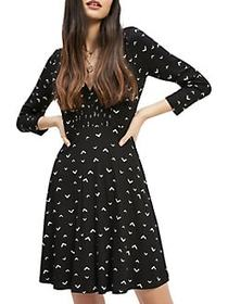 Miss Selfridge Arrow Printed Tea Dress BLACK