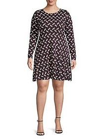MICHAEL Michael Kors Plus Long Sleeve Printed Fit-