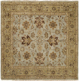 Piso Hand-Knotted Blue/Brown Area Rug