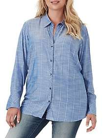 Jessica Simpson Plus Xavier Smocked-Back Relaxed-F