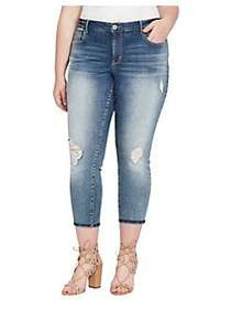 Jessica Simpson Plus Forever Rolled-Ankle Jeans TO
