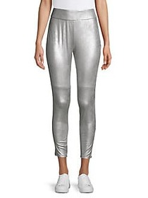 Highline Collective Faux-Leather Metallic Leggings