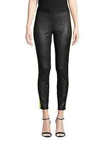 Highline Collective Striped Cropped Leggings BLACK
