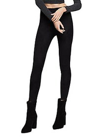 BCBGeneration Classic Seamed Faux Suede Leggings B
