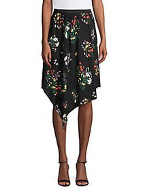Highline Collective Floral Asymmetrical Hem Skirt