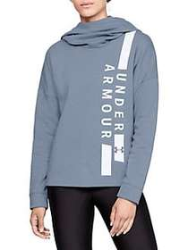 Under Armour Rival Fleece Funnelneck Hoodie WASHED