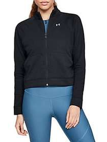 Under Armour Favorite Terry Bomber Jacket BLACK