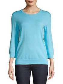 Lord & Taylor Three Quarter Sleeve Knit Sweater CO