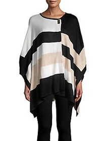 Calvin Klein Heathered Colorblock Poncho HEATHER L