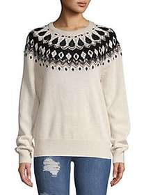 French Connection Vera Embellished Fair Isle Sweat