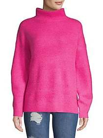French Connection Puffed-Sleeve Ribbed Sweater BRI