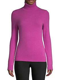 Lord & Taylor Essential Cashmere Turtleneck Sweate
