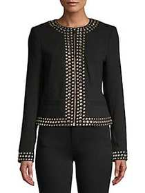 MICHAEL Michael Kors Embellished Long-Sleeve Blaze