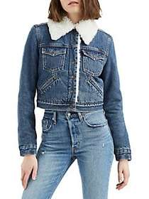 Levi's Extra Styled Faux Shearling-Trimmed Denim T