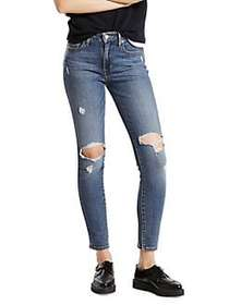 Levi's 721 High-Rise Ripped Skinny Jeans MEDIUM BL