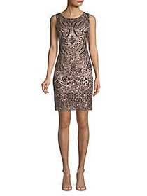 Vince Camuto Printed Sheath Dress BRONZE