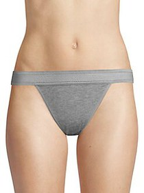 French Connection Modal Low-Rise Thong HEATHER GRE