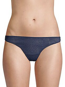 French Connection Geo Lace Thong NAVY BLAZER