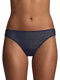 French Connection Geo Lace Bikini Panty NAVY BLAZE