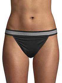 French Connection Modal Bikini Bottoms ANTHRACITE
