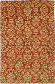 Surrey Hand-Knotted Beige/Red Area Rug