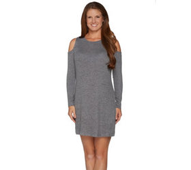 """""""As Is"""" AnyBody Loungewear Brushed Hacci Dress - A"""