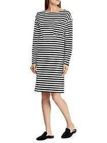 Lauren Ralph Lauren Striped Cotton Shirt Dress BLA