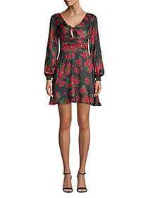 Free People Morning Light Mini Dress BLACK