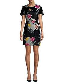 French Connection Floral-Print Sheath Dress DARK S