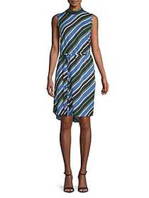 Dorothy Perkins Striped Tie-Front Shift Dress BLUE