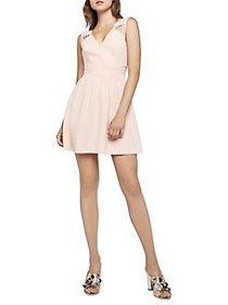 BCBGeneration Strappy Cut-Out Mini Dress PINK CORA