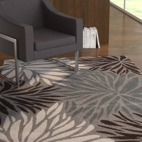 Marisela Polyester Hand Tufted Gray Area Rug