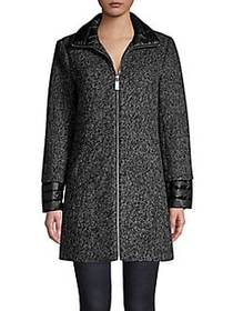 Kenneth Cole New York Essential Full-Zip Coat CHAR